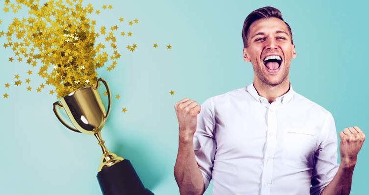 celebrating-trophy-prize-fantasy-sports-win-competition